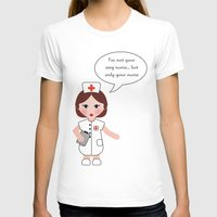 Jobs serie: the nurse Womens Fitted Tee White SMALL