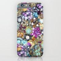 iPhone Cases featuring Vintage Bling by Joke Vermeer