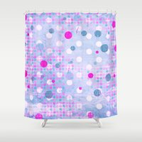 SUMMER DOTS Shower Curtain