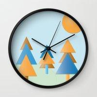 tree stitches Wall Clock