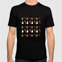 Christmas Icons Mens Fitted Tee Black SMALL