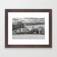 Winter Barn Framed Art Print