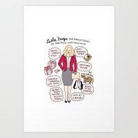 Queen Leslie Knope Art Print