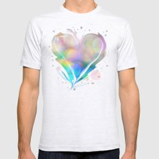 Color Me Happy... Mens Fitted Tee Ash Grey SMALL