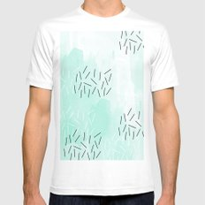 DASH DASH SMALL Mens Fitted Tee White