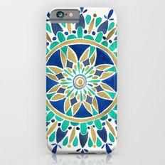 Mandala – Gold & Turquoise iPhone 6 Slim Case