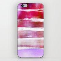 waves - pink iPhone & iPod Skin