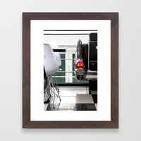 Diner Taillight Framed Art Print