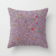 Microcosm IV Throw Pillow