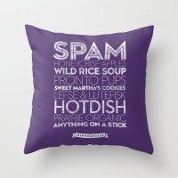 Minneapolis — Deliciou… Throw Pillow