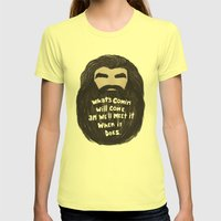 An' We'll Meet It Womens Fitted Tee Lemon SMALL