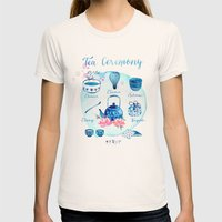 Tea Ceremony Womens Fitted Tee Natural SMALL