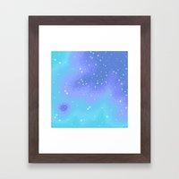 Twilight Nebula (8bit) Framed Art Print
