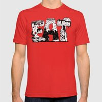 EAT - Lettering Mens Fitted Tee Red SMALL