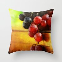Autumn Grapes Throw Pillow