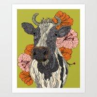 Moooo Art Print