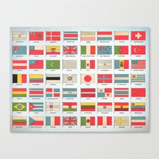 Vintage World Flags Canvas Print