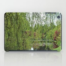 Lovely, soft green spring willow tree by the pond iPad Case