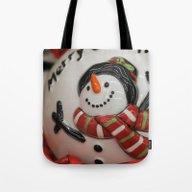 Frosty Globe Tote Bag