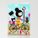 Morning ride! Stationery Cards