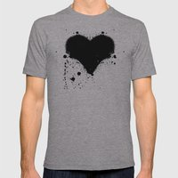 Splatterheart Mens Fitted Tee Athletic Grey SMALL