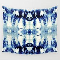 Tie Dye Blues Wall Tapestry