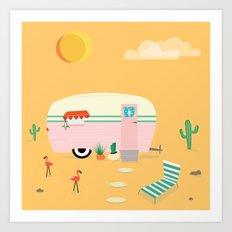Happy Trailer Art Print
