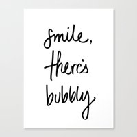 Smile - Bubbly Canvas Print