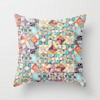 Watercolour Quilt Throw Pillow