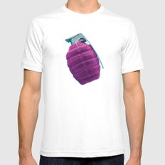 Smart Bomb SMALL White Mens Fitted Tee