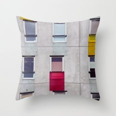 eastern european apartments in colour Throw Pillow