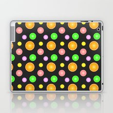 Orange, lemon, lime and grapefruit summer party pattern Laptop & iPad Skin