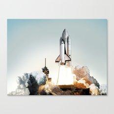 Rocket launch Canvas Print
