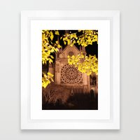 Midnight Blossoms Framed Art Print