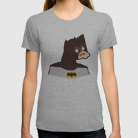 Bat Man Womens Fitted Tee Athletic Grey SMALL