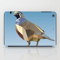 Geometric Quail iPad Case