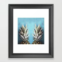 How About Those Pineapples Framed Art Print