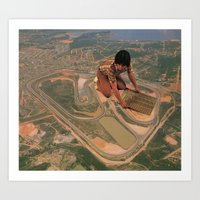 Interlagos Racetrack Art Print