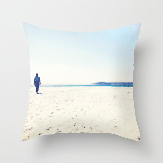 Beach & Blue Throw Pillow