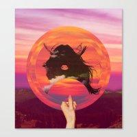 Set My Sun Canvas Print