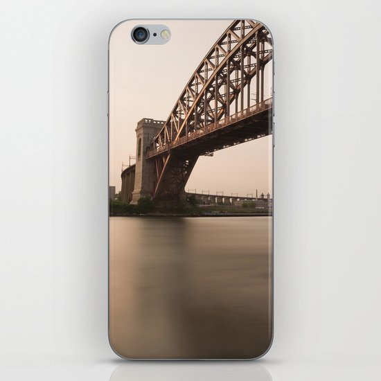 Hell Gate Bridge (NYC) at Sunset iPhone & iPod Skin
