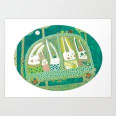 Rabbit journey Art Print