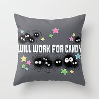 Spirited Soot Throw Pillow