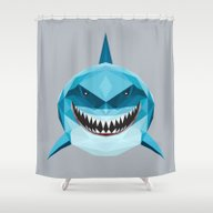 S Is For Shark Shower Curtain