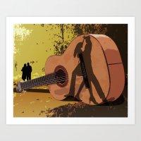 Memories Of A Guitar Art Print