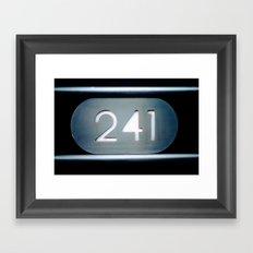241 Cut Metal Sign Framed Art Print