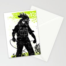Rooster Man Microphone Stationery Cards