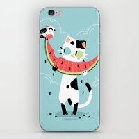 Watermelon Cat iPhone & iPod Skin