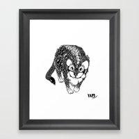 Black Cheetah Framed Art Print