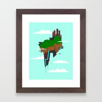 Skyward Metropolis Framed Art Print